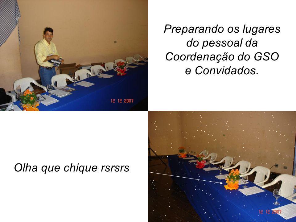 do pessoal da Coordenação do GSO