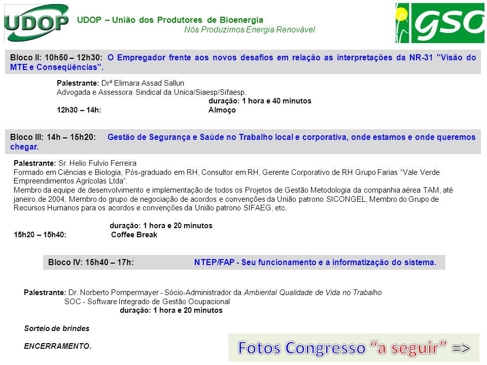 Fotos Congresso a seguir =>