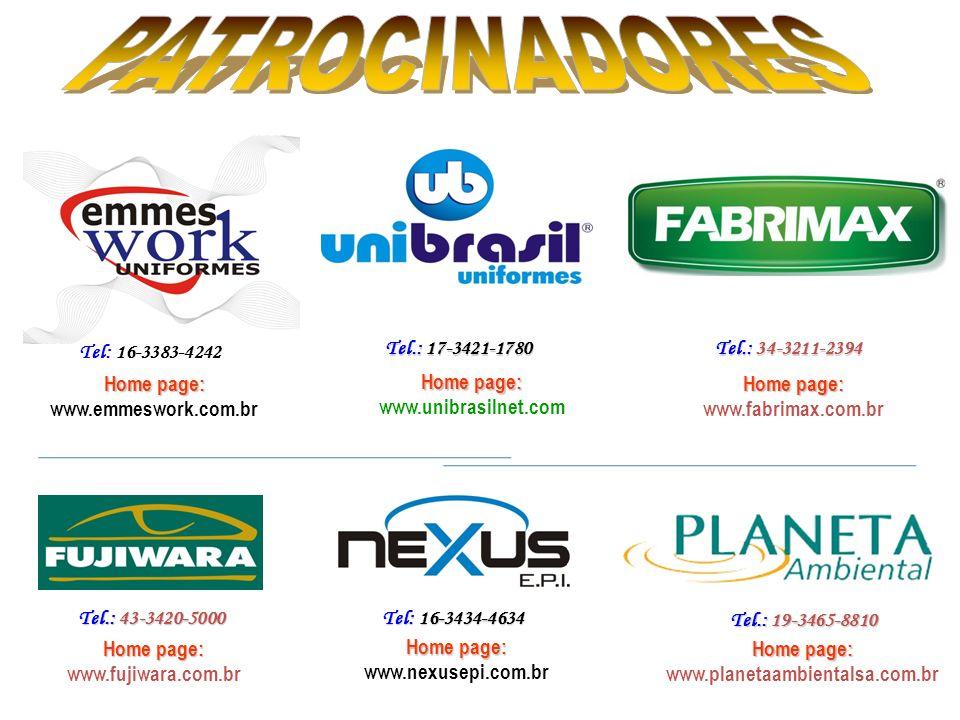 PATROCINADORES Tel: 16-3383-4242 Tel.: 17-3421-1780 Tel.: 34-3211-2394