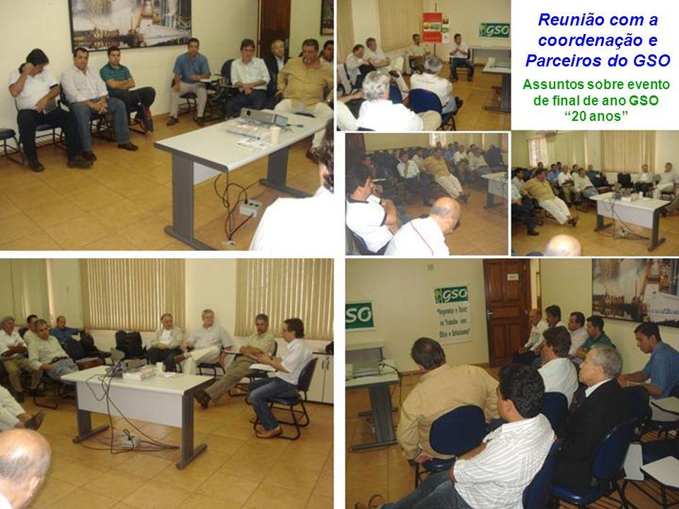 Reunião com a coordenação e Parceiros do GSO