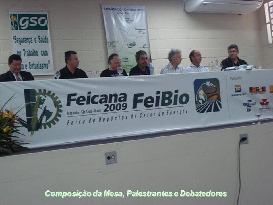 Composição da Mesa, Palestrantes e Debatedores