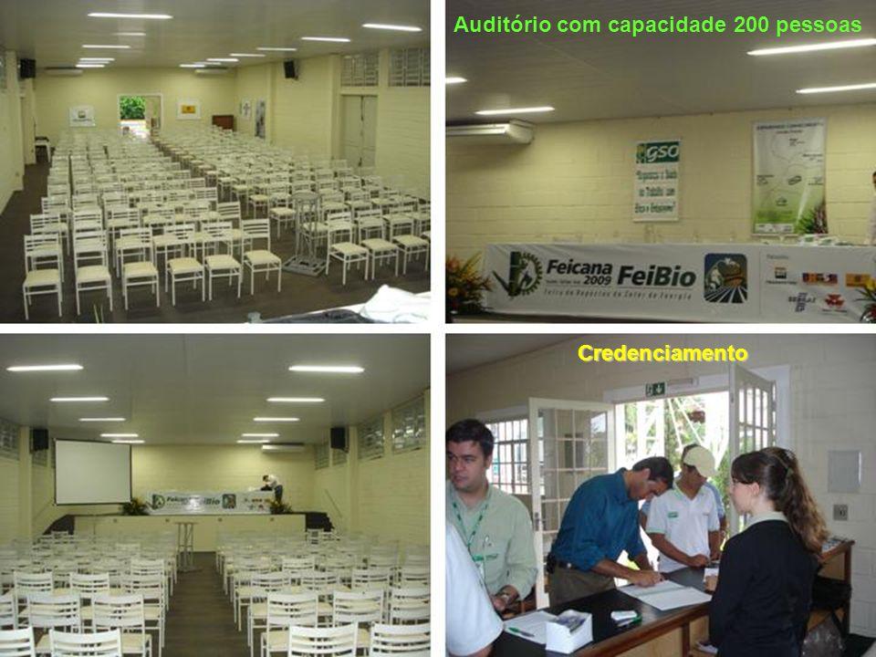 Auditório com capacidade 200 pessoas