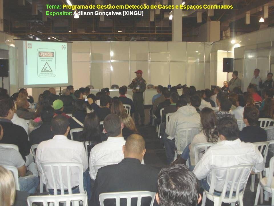Tema: Programa de Gestão em Detecção de Gases e Espaços Confinados