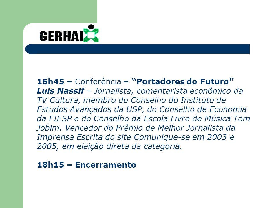 16h45 – Conferência – Portadores do Futuro