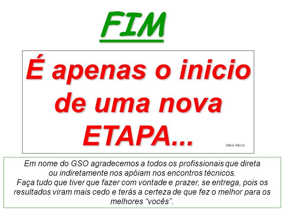 FIM É apenas o inicio de uma nova ETAPA... É apenas o inicio