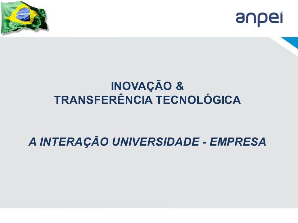 TRANSFERÊNCIA TECNOLÓGICA A INTERAÇÃO UNIVERSIDADE - EMPRESA