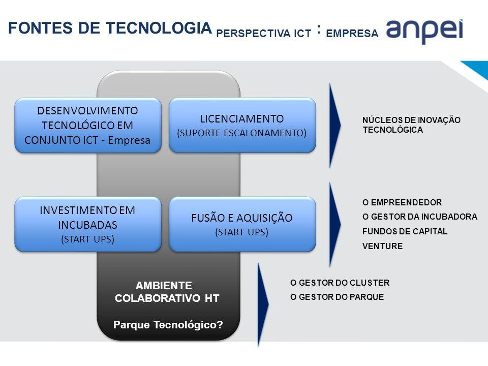FONTES DE TECNOLOGIA PERSPECTIVA ICT : EMPRESA