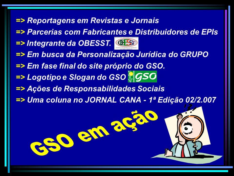 GSO em ação => Reportagens em Revistas e Jornais