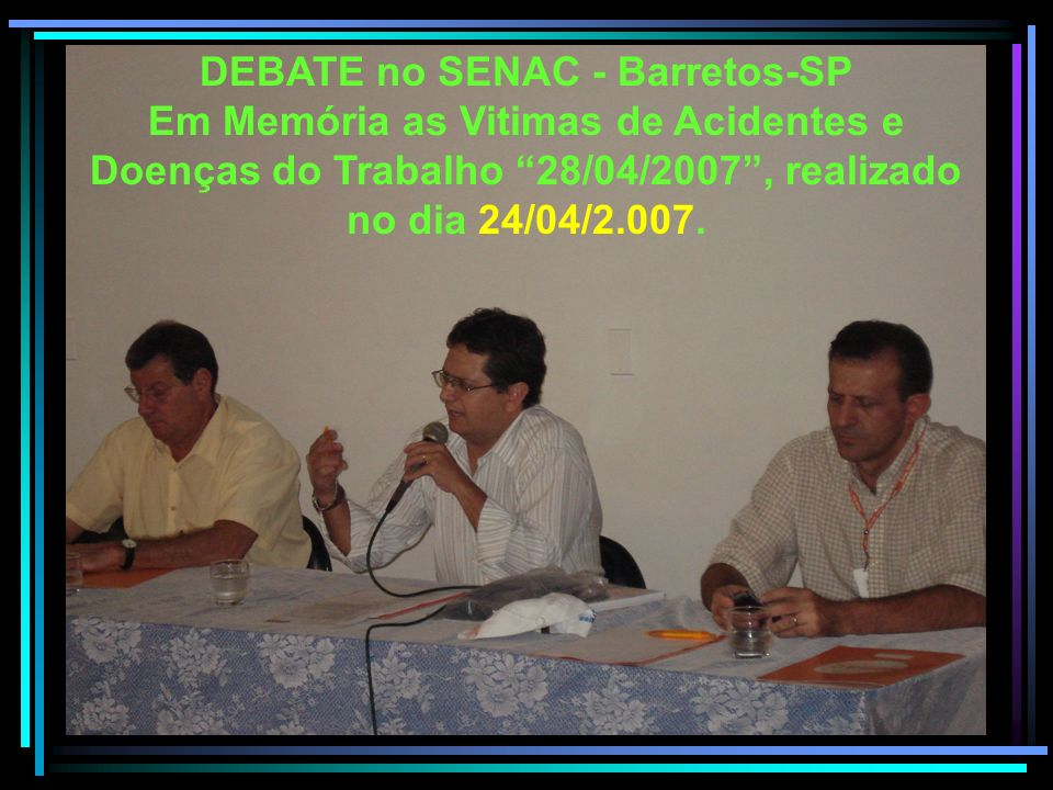 DEBATE no SENAC - Barretos-SP