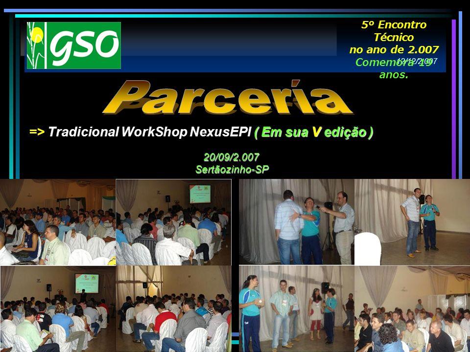 Parcería => Tradicional WorkShop NexusEPI ( Em sua V edição )