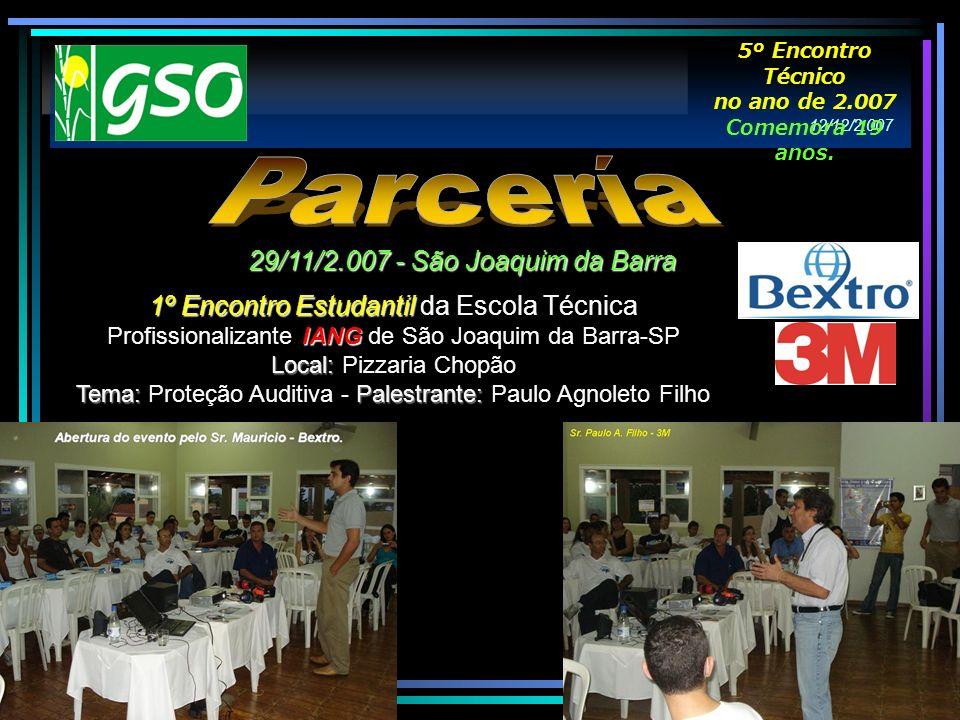 Parcería 29/11/2.007 - São Joaquim da Barra