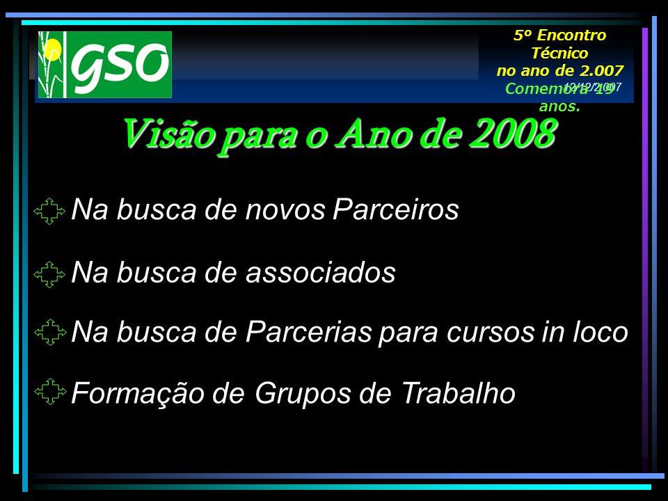 Visão para o Ano de 2008 Na busca de novos Parceiros