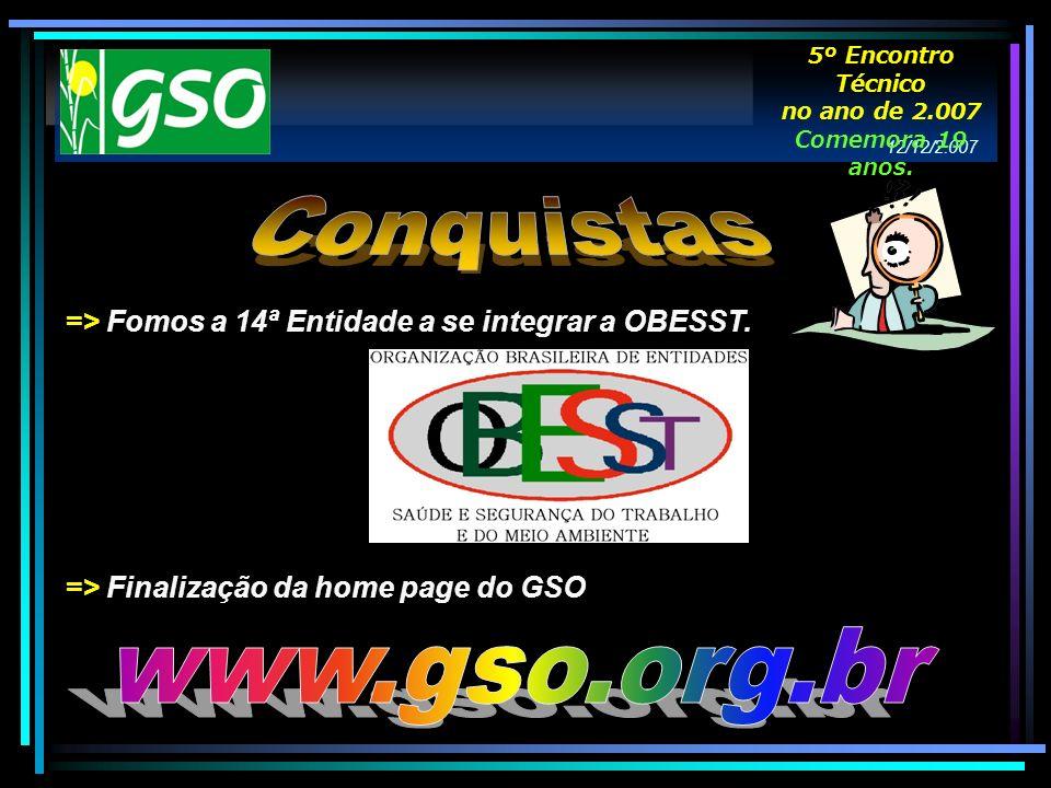 Conquistas www.gso.org.br