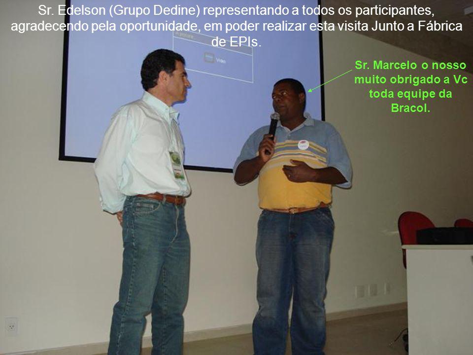 Sr. Marcelo o nosso muito obrigado a Vc toda equipe da Bracol.