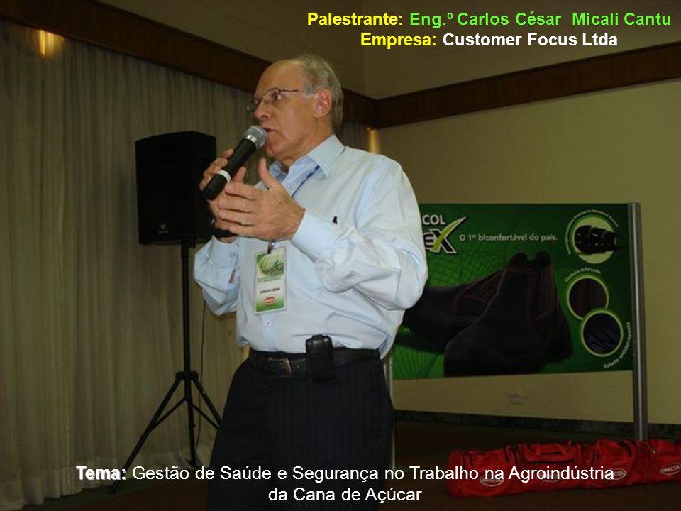 Tema: Gestão de Saúde e Segurança no Trabalho na Agroindústria