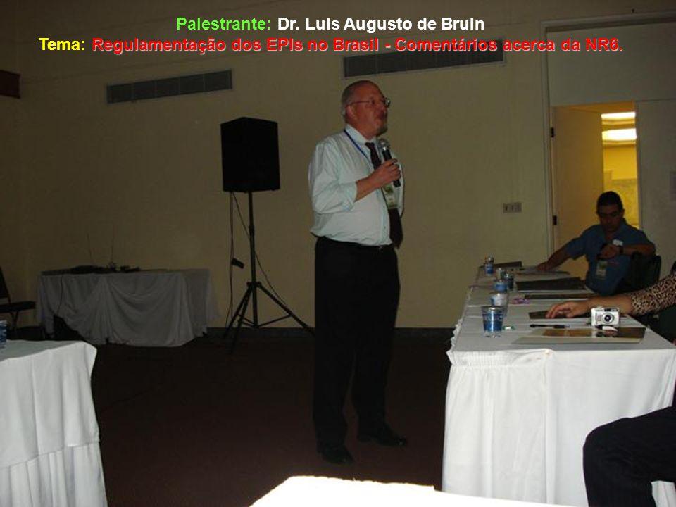Palestrante: Dr. Luis Augusto de Bruin