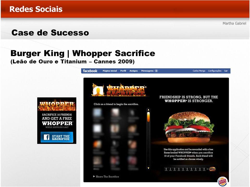 Case de Sucesso Burger King   Whopper Sacrifice (Leão de Ouro e Titanium – Cannes 2009)