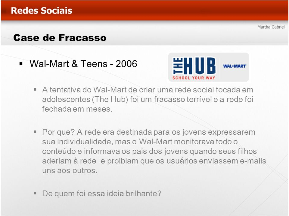 Case de Fracasso Wal-Mart & Teens - 2006