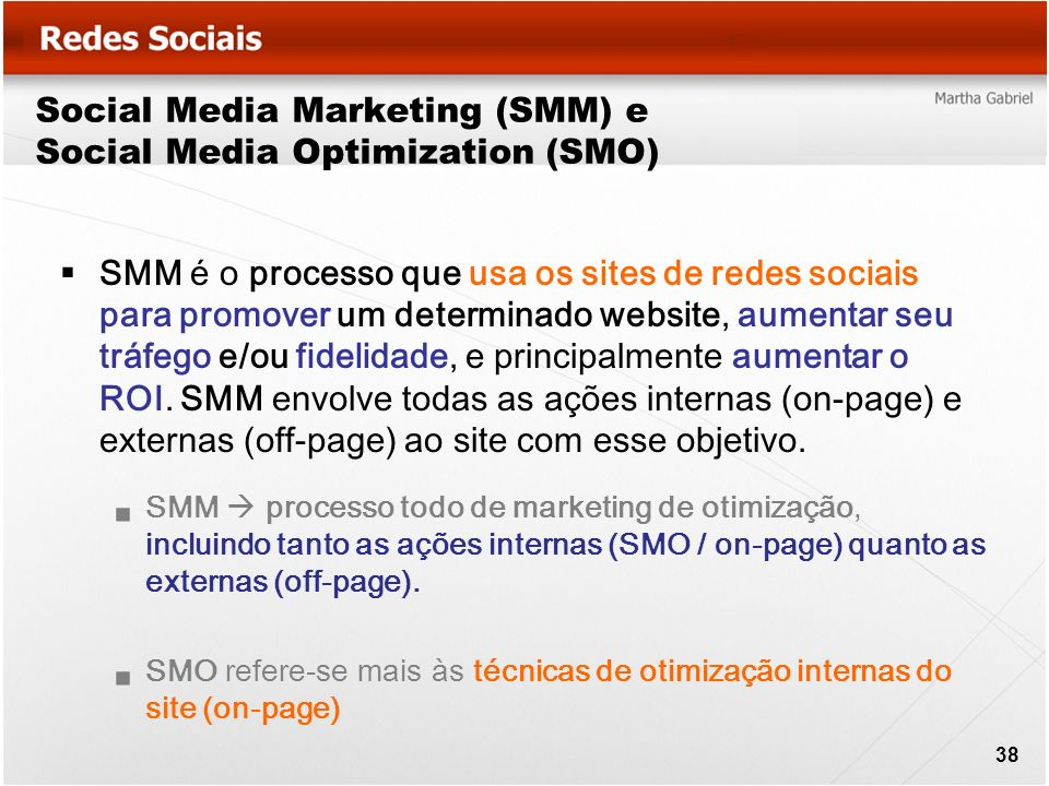 Social Media Marketing (SMM) e Social Media Optimization (SMO)