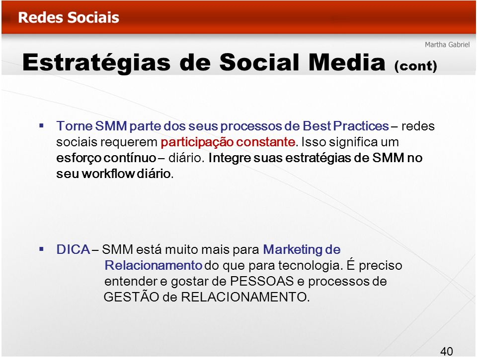 Estratégias de Social Media (cont)