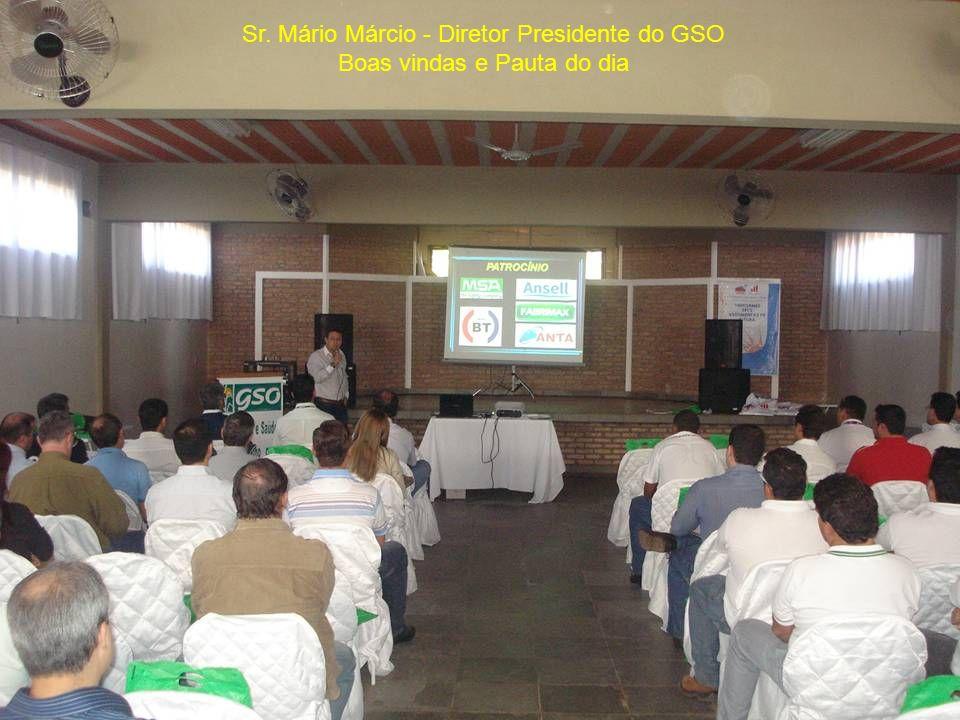Sr. Mário Márcio - Diretor Presidente do GSO Boas vindas e Pauta do dia