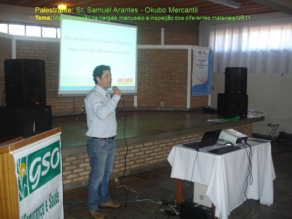 Palestrante: Sr. Samuel Arantes - Okubo Mercantil