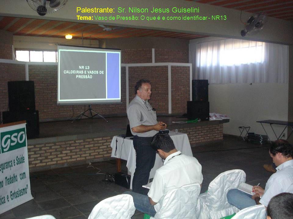 Palestrante: Sr. Nilson Jesus Guiselini