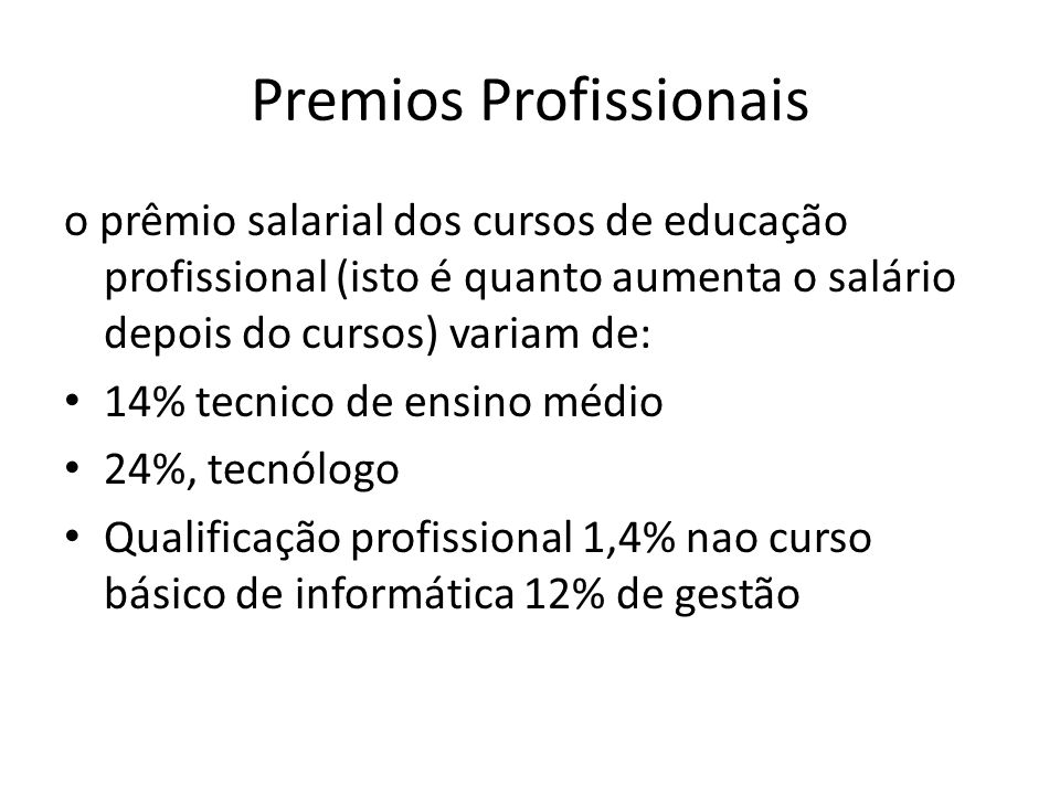 Premios Profissionais