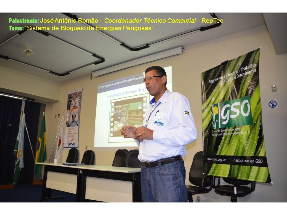 Palestrante: José Antônio Romão - Coordenador Técnico Comercial - RepTec