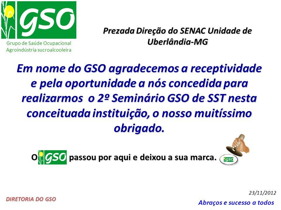 Prezada Direção do SENAC Unidade de Uberlândia-MG