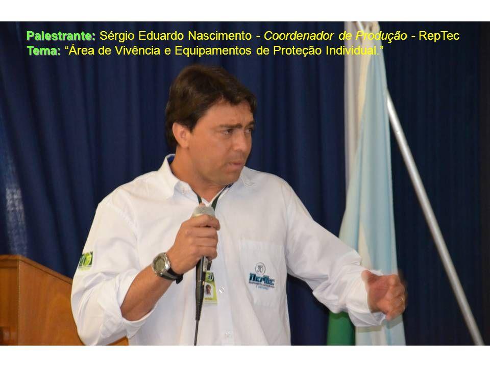Palestrante: Sérgio Eduardo Nascimento - Coordenador de Produção - RepTec
