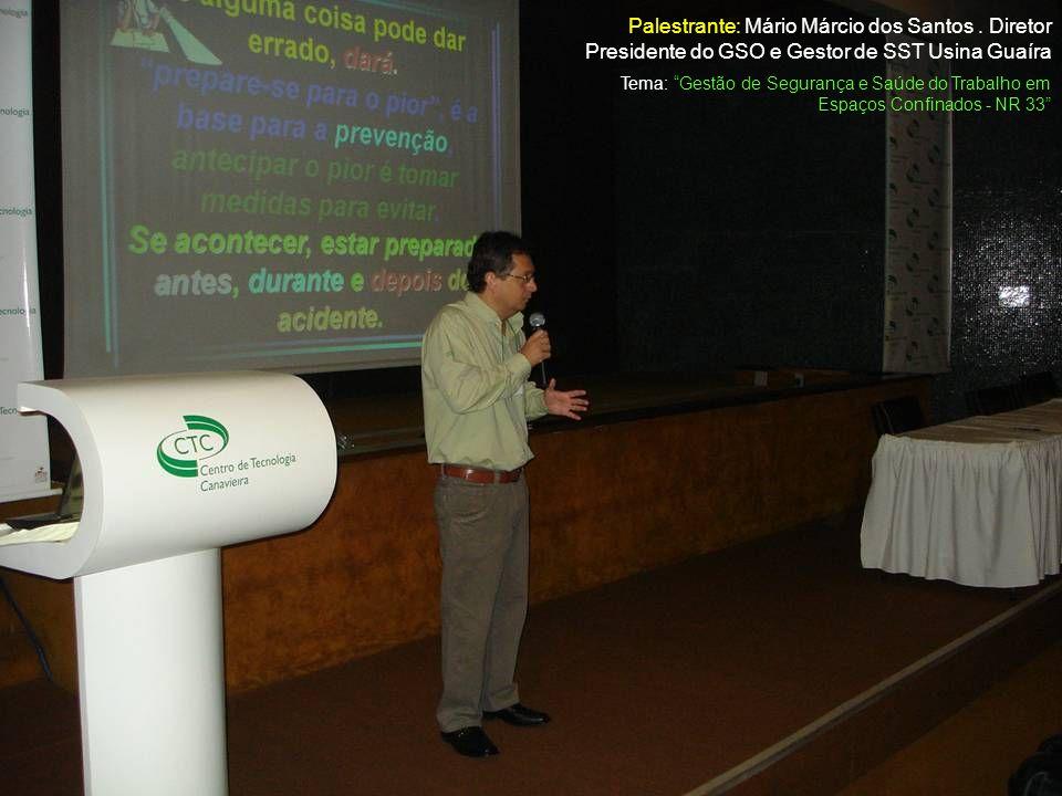 Palestrante: Mário Márcio dos Santos