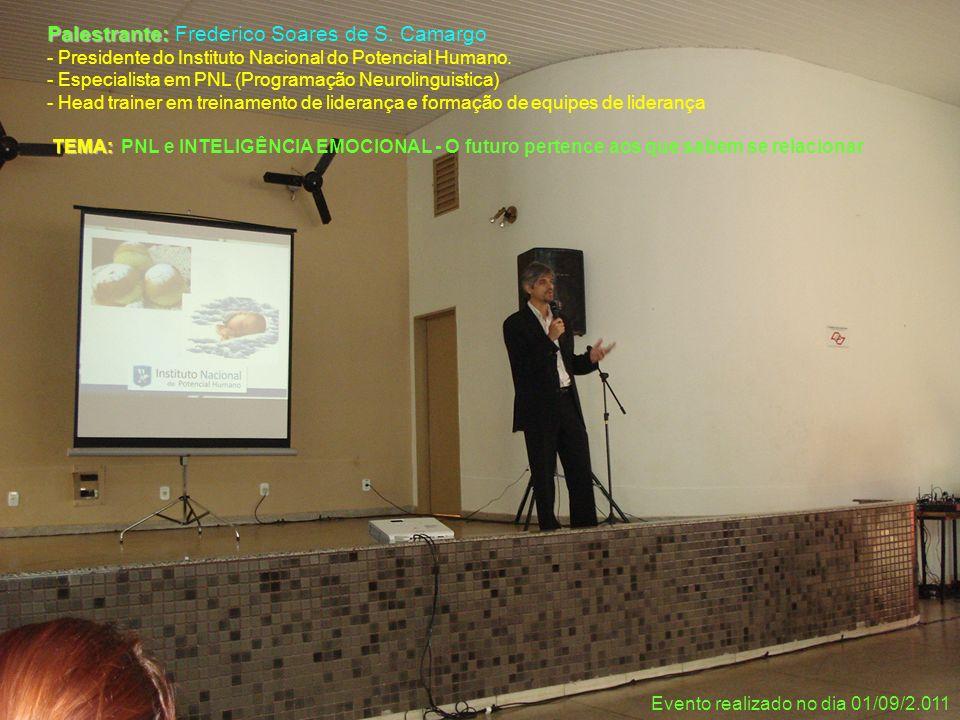 Palestrante: Frederico Soares de S. Camargo