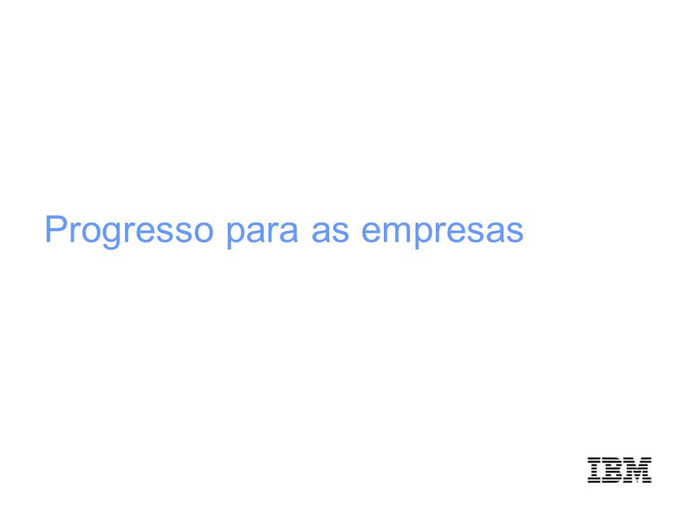 Progresso para as empresas