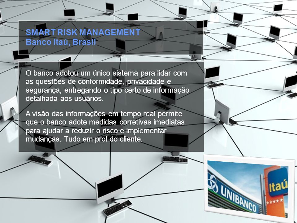 SMART RISK MANAGEMENT Banco Itaú, Brasil