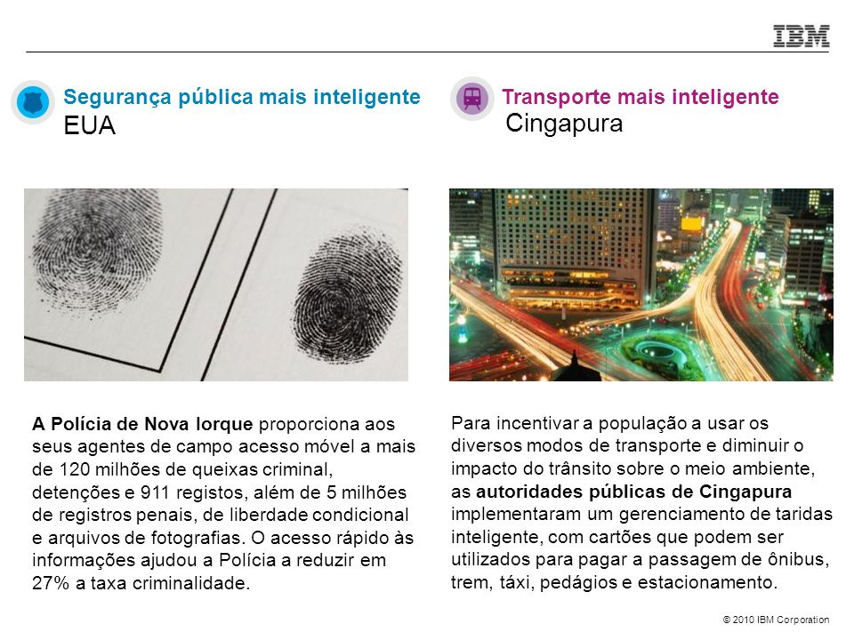Cingapura Segurança pública mais inteligente EUA