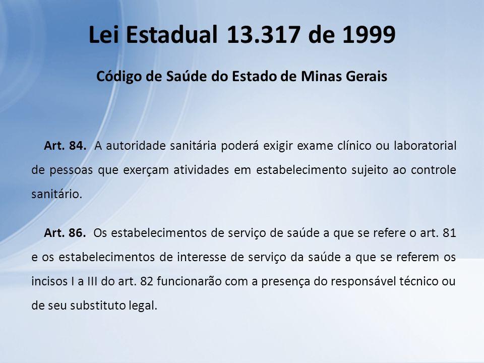 Código de Saúde do Estado de Minas Gerais
