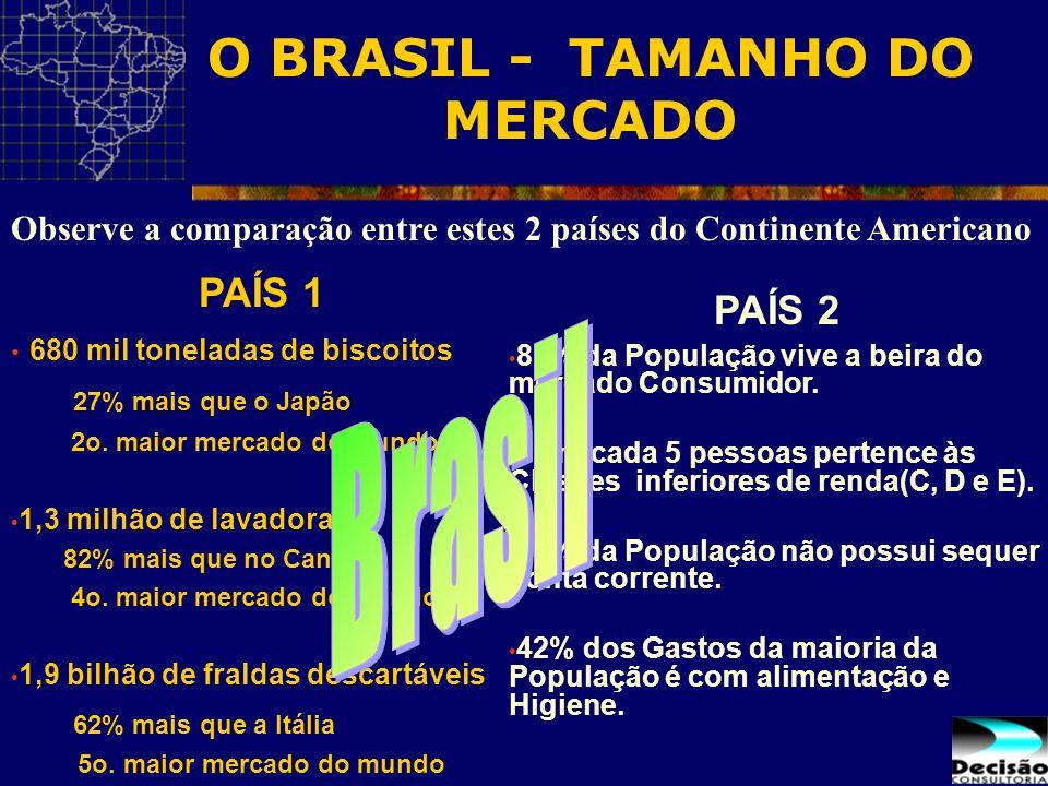 O BRASIL - TAMANHO DO MERCADO