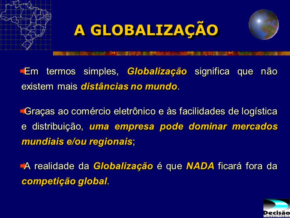 A GLOBALIZAÇÃO Em termos simples, Globalização significa que não existem mais distâncias no mundo.