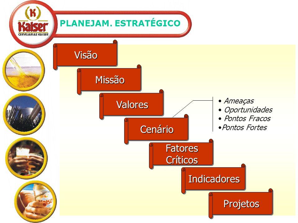 Visão Missão Valores Cenário Fatores Críticos Indicadores Projetos