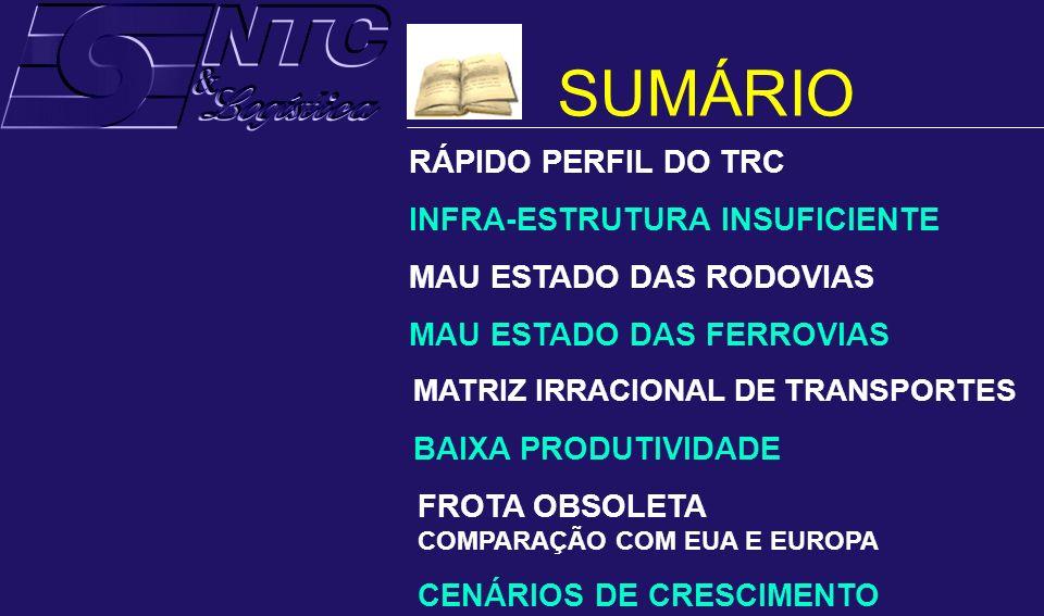 SUMÁRIO RÁPIDO PERFIL DO TRC INFRA-ESTRUTURA INSUFICIENTE