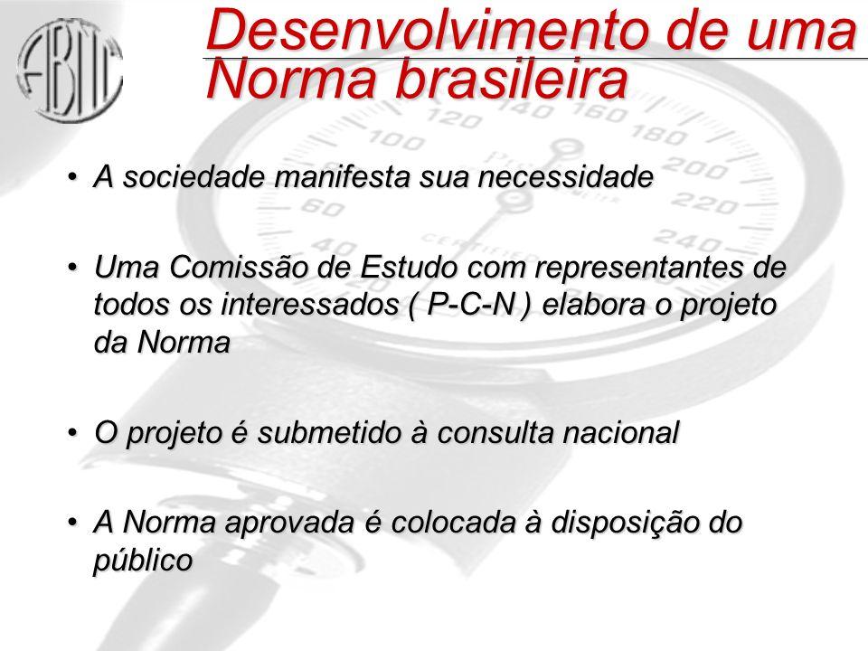 Desenvolvimento de uma Norma brasileira