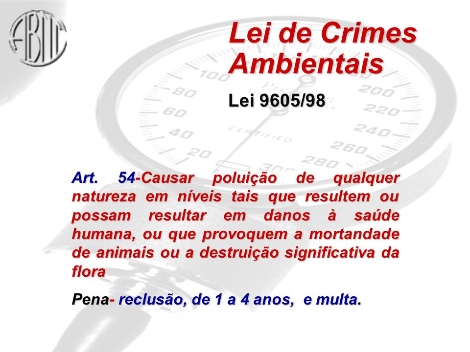 Lei de Crimes Ambientais
