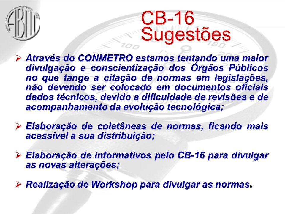 CB-16 Sugestões