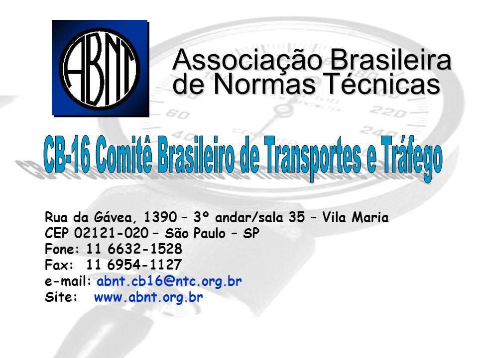 CB-16 Comitê Brasileiro de Transportes e Tráfego
