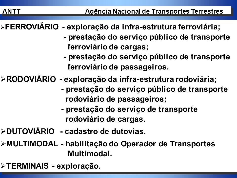 - prestação do serviço público de transporte ferroviário de cargas;