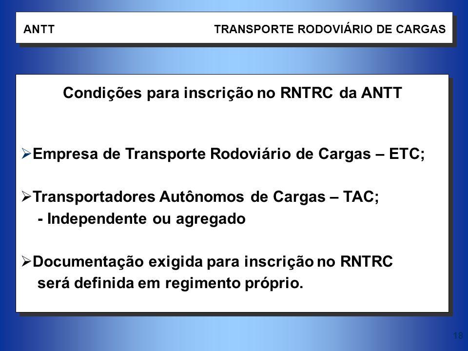Empresa de Transporte Rodoviário de Cargas – ETC;