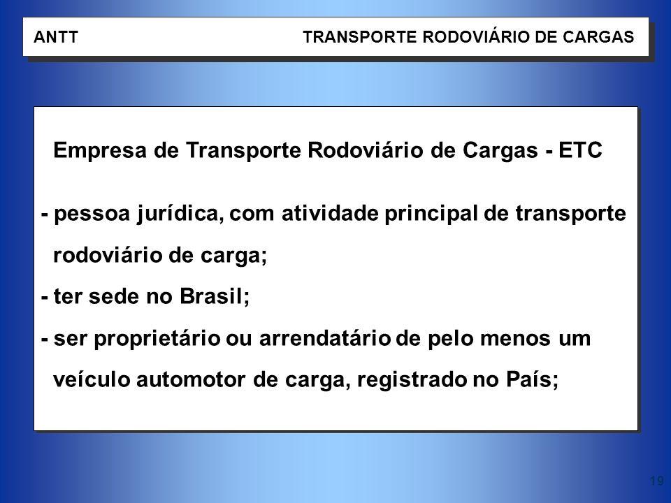 Empresa de Transporte Rodoviário de Cargas - ETC