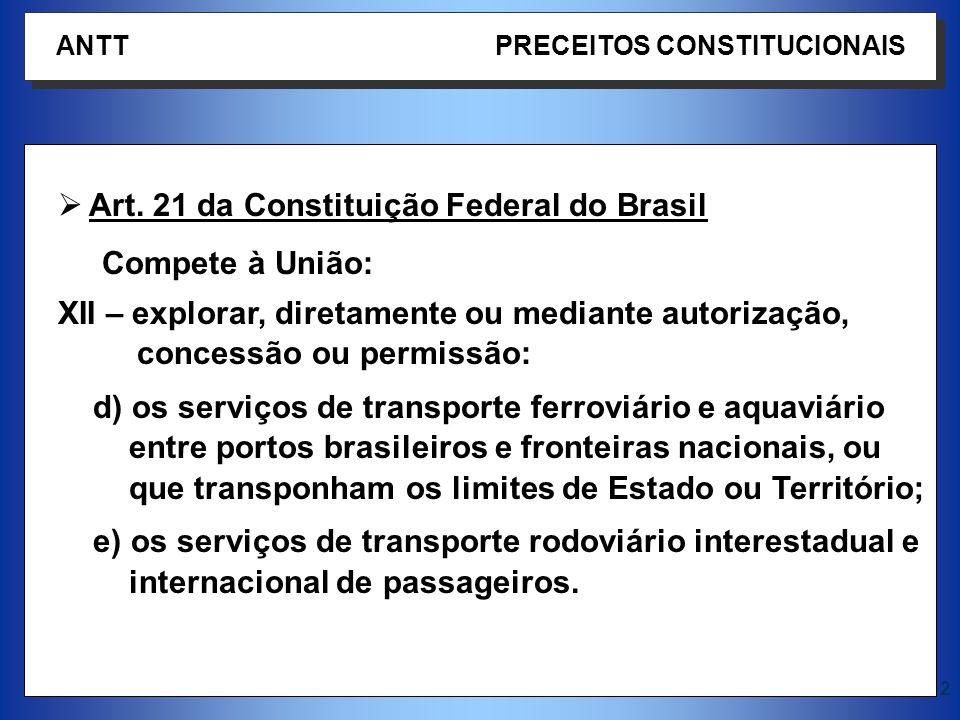 Art. 21 da Constituição Federal do Brasil Compete à União: