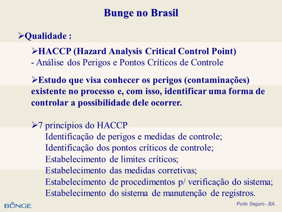Bunge no Brasil Qualidade :